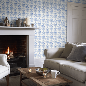 Cobalt Blue Rousseau Wallpaper