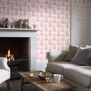Rose Pink Rousseau Wallpaper