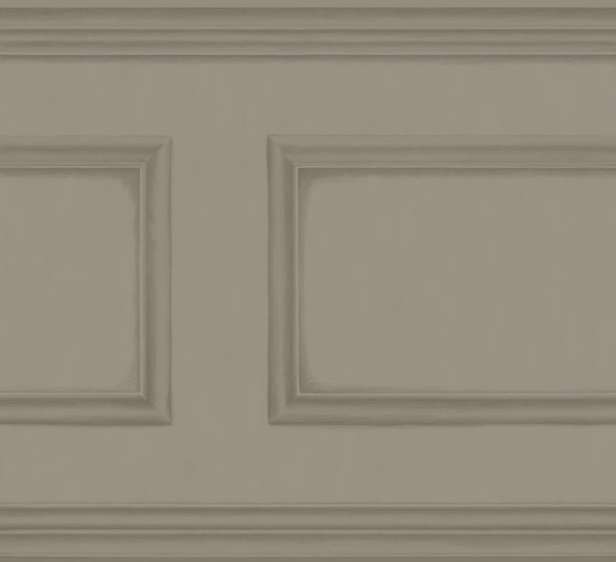 Charcoal Grey Library Frieze Wallpaper