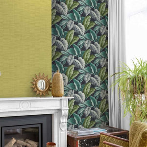 Botanical Tropical Leaves Wallpaper - Textured