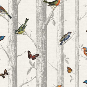 Epping forest pattern wallpaper bird butterfly woods
