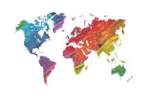 Multicolour world map