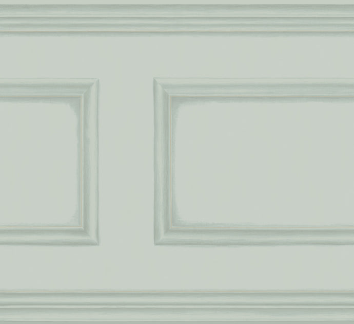 Powder Blue Library Frieze Wallpaper