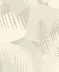 Grey Deco Palm Wallpaper