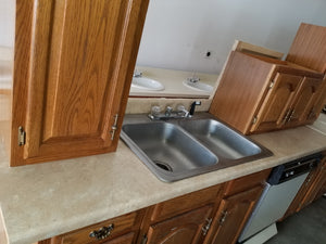 Straight Beige Kitchen Countertop