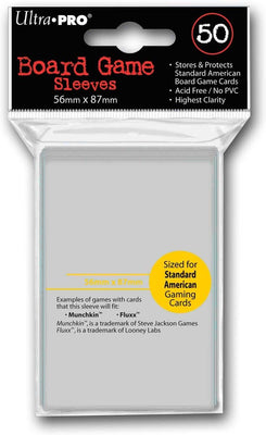 Board Game Sleeves, 56 x 87 mm, American Standard