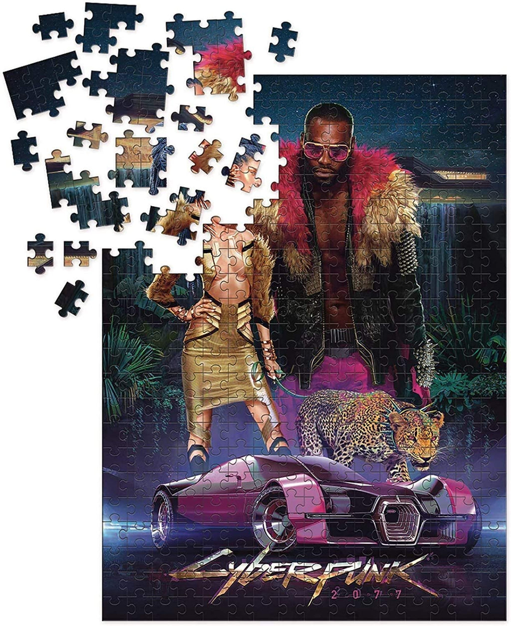 Cyberpunk 2077 Neokitsch, 1000 Pieces Puzzle