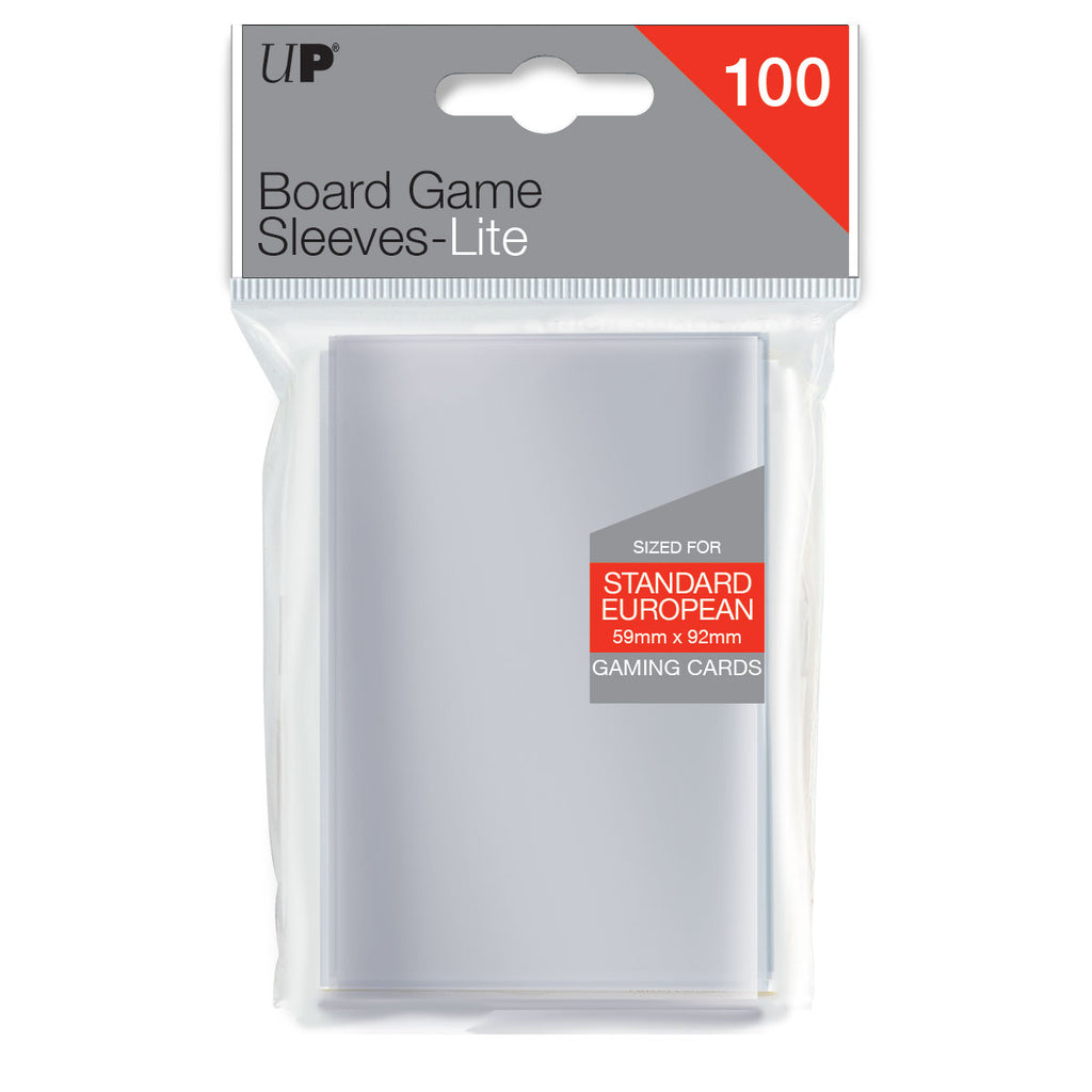 Board Game Sleeves Lite Standard European 59mm x 92mm (100 sleeves)