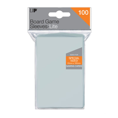 Board Game Sleeves Lite Special Sized 65 x 100mm (100 sleeves)