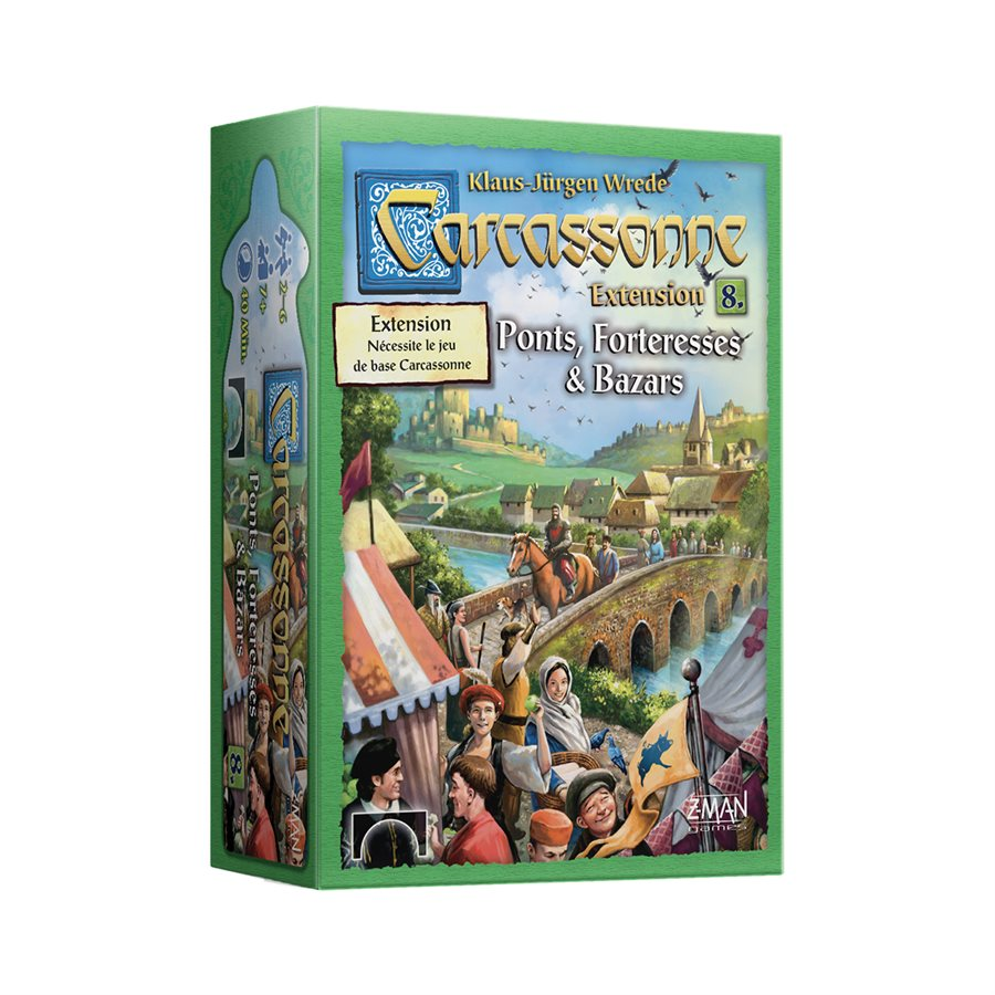 Carcassonne Extension 8 Bazars, Ponts & Forteresse (French Edition)
