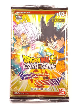 Dragon Ball Super Card Game, World Martial Arts Tournaments TB02 (1 Booster Pack)