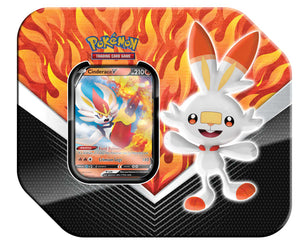 Pokemon TCG Galar Partners Tin, Cinderace V
