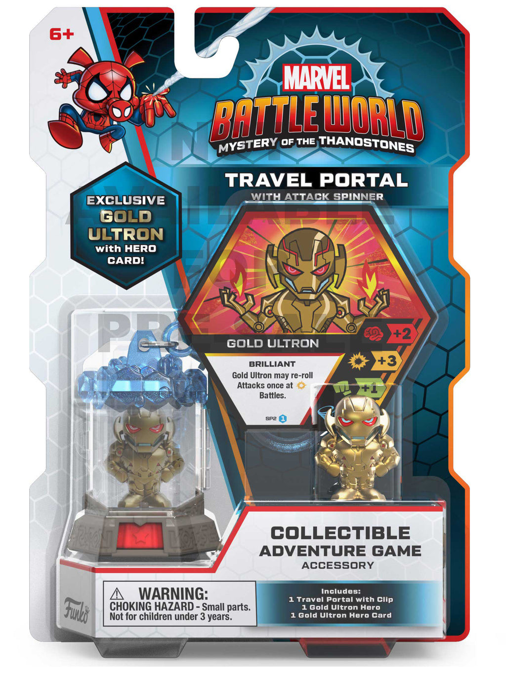 Marvel Battleworld Travel Portal - Gold Ultron