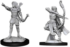 Nolzur's Unpainted D&D Miniatures Elf Ranger (Female)