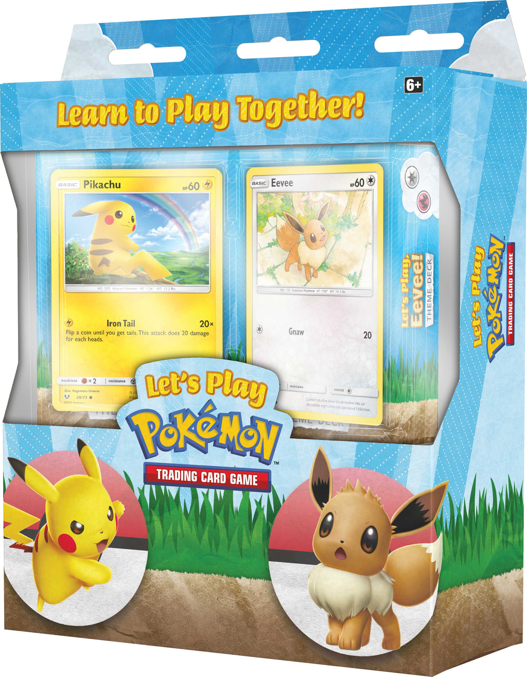 Pokemon TCG Let's Play Together Theme Deck, Pikachu & Eevee