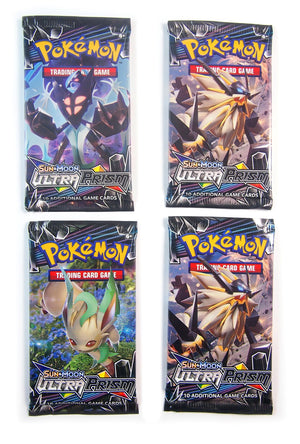 Pokemon SM4,  Ultra Prism (4) Booster pack Lot
