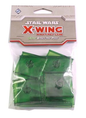 X-Wing Miniatures Game, Green Bases and Pegs