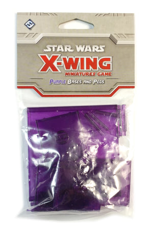 X-Wing Miniatures Game, Purple Bases and Pegs