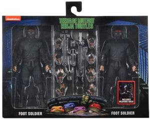 Neca TMNT Foot Soldier 2 Pack With Weapon Rack Action Figures