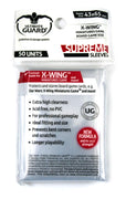 Ultimate Guard Supreme Soft Sleeves, X-Wing Size 43 x 54 mm