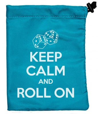 Treasure Nest Dice Bag, Keep Calm and Roll on