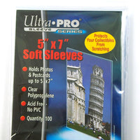 "Ultra Pro - 100 Soft sleeves,  5"" x 7"""