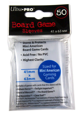 Board Game Sleeves, 41 mm x 63 mm, Mini American