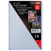 "Toploader  4"" x 6""  (1 packs of 25)"