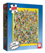 The Simpsons Cast 1000 pc Jigsaw Puzzle