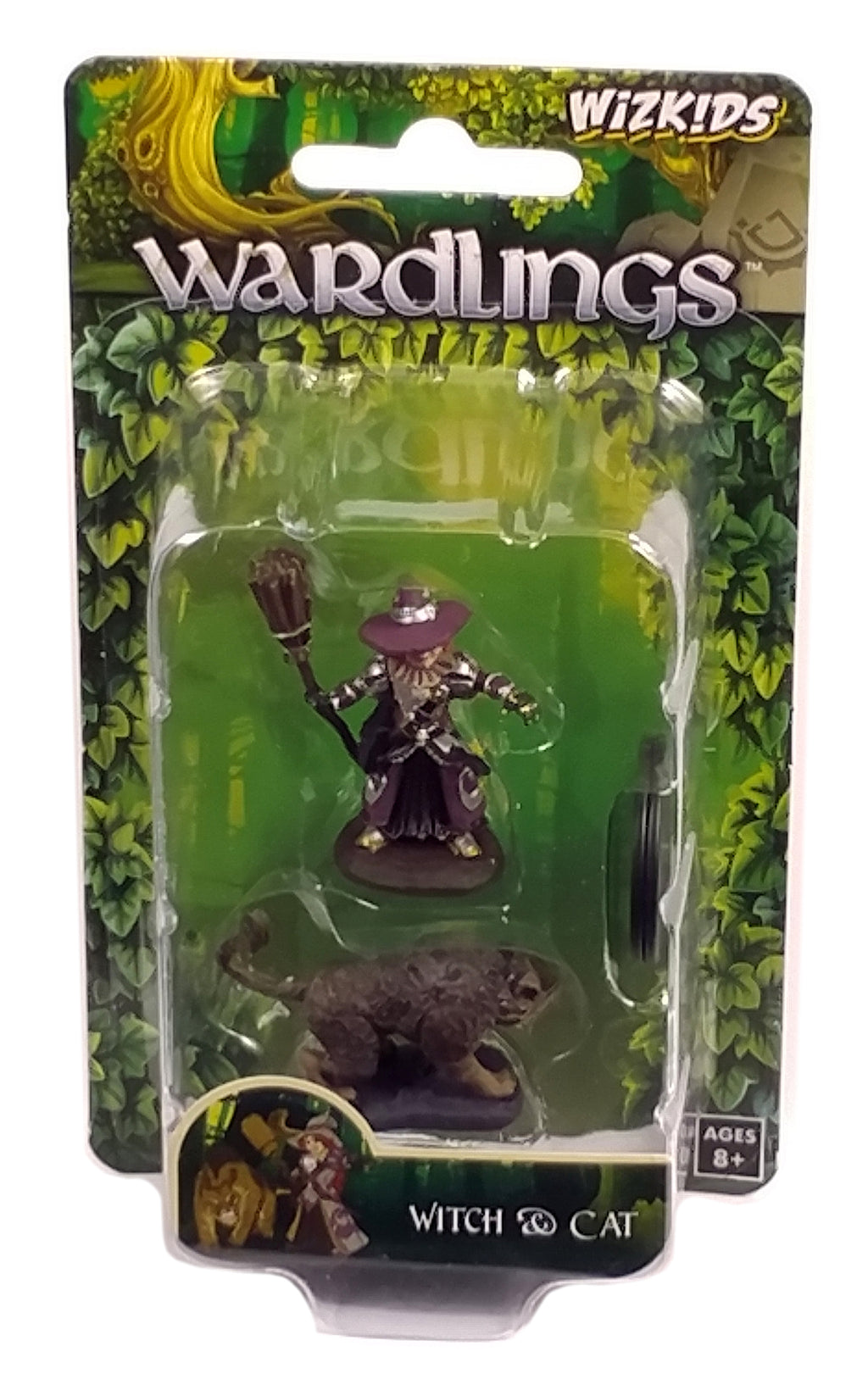 Wardlings Boy Witch & Cat Figure