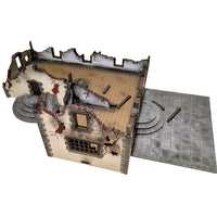 Country House in Ruins, 15 mm Scale