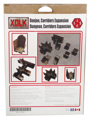 Dungeon Corridors Expansion 1, 28 mm Scale Roleplaying game Scenery Kit