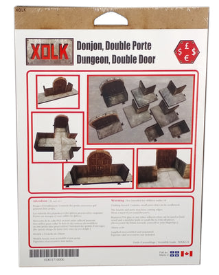 Dungeon Double Door, 28 mm Scale Roleplaying game Scenery Kit