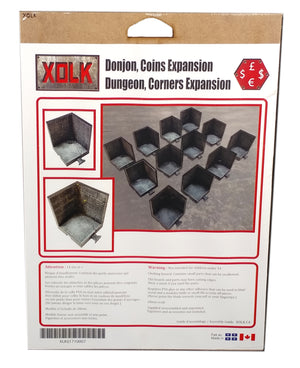 Dungeon Corners Expansion, 28 mm Scale Roleplaying game Scenery Kit