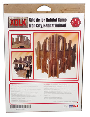 Iron City Habitat in Ruins, 28 mm Scale Wargaming Scenery