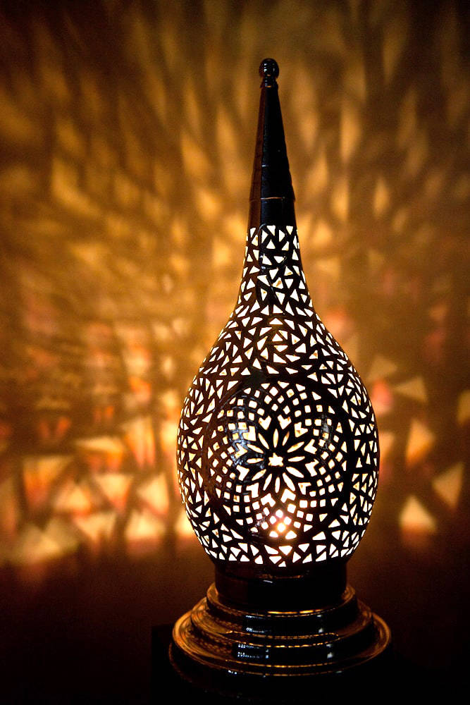 Exotic Moroccan Light Beautiful Silver Handmade Table Lamp Moroccan