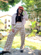 Load image into Gallery viewer, Plaid Straight Leg Trouser Pants