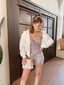 Maui Shirred Mini Dress
