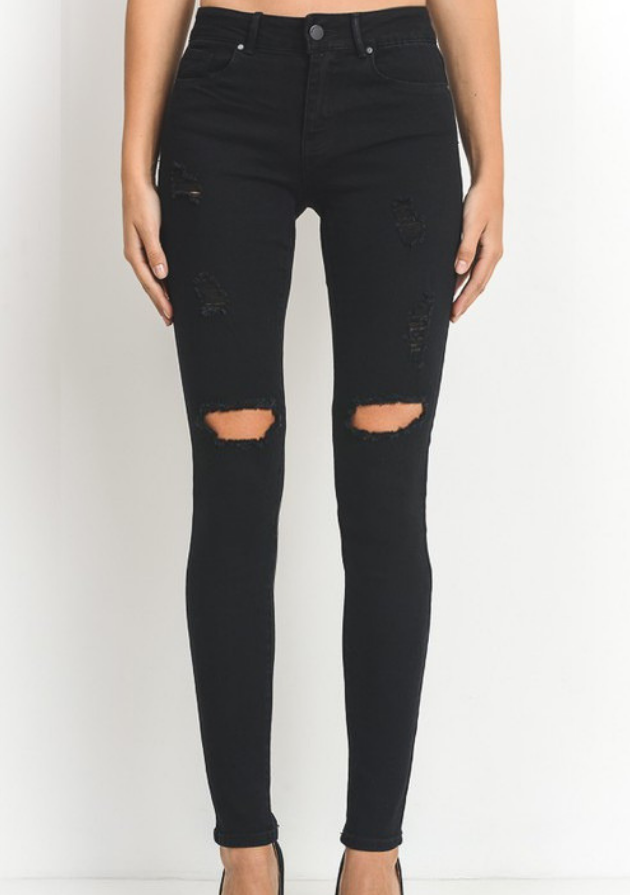 Black Jeans with Rips
