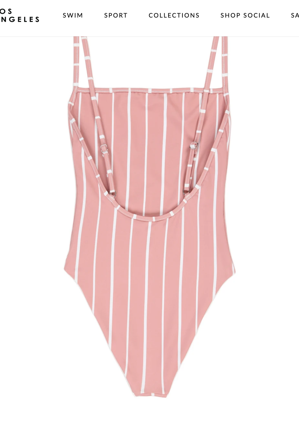 Pink & White Striped One Piece