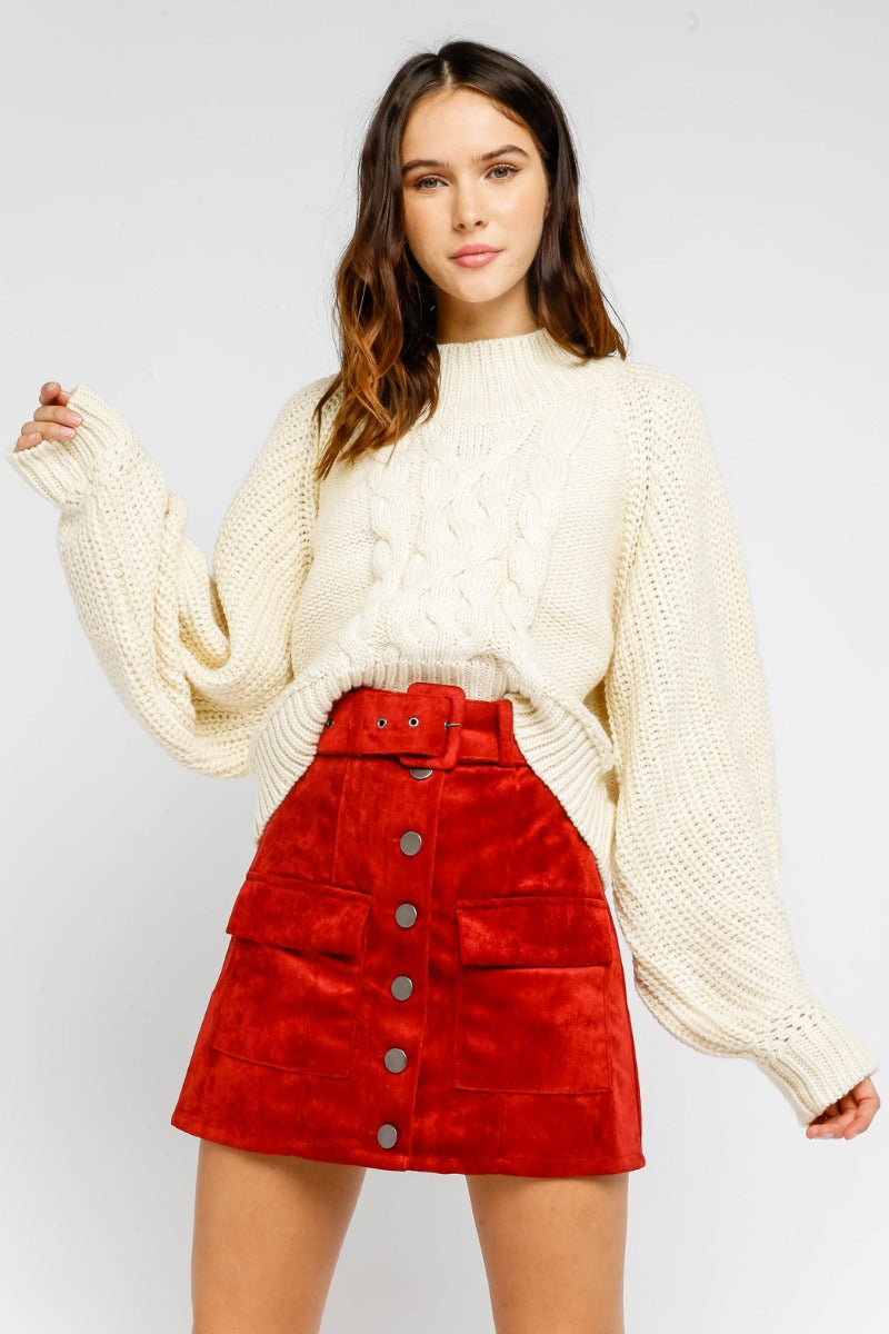 Ivory Cable Knit Sweater