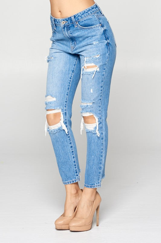 High Rise Relaxed Skinny Jean