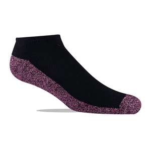 Jox Sox Low Cut Sock Black/Pink style JSL35 -3 Pair
