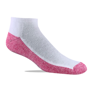Jox Sox Low Cut Sock White/Pink style JSL05 -3 Pair