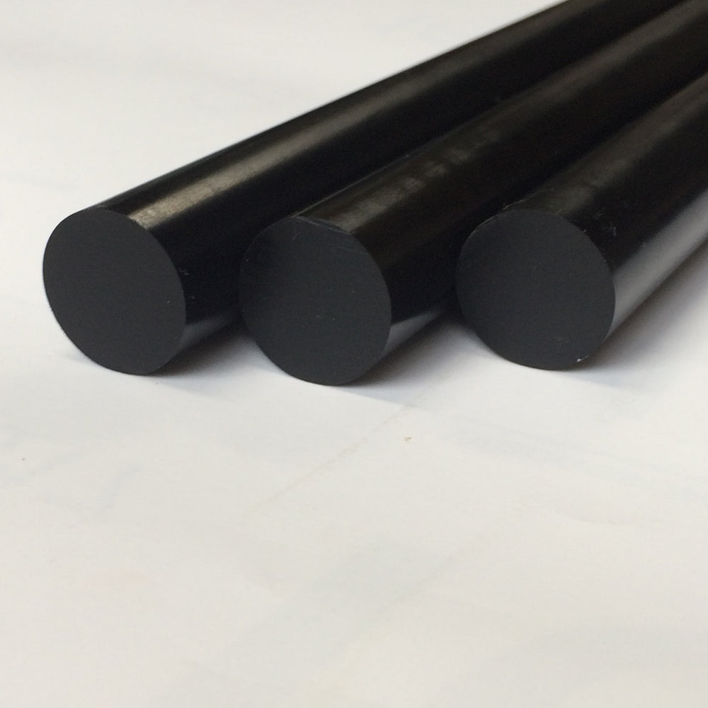 BLACK	Polished	30 mm ebonite rod