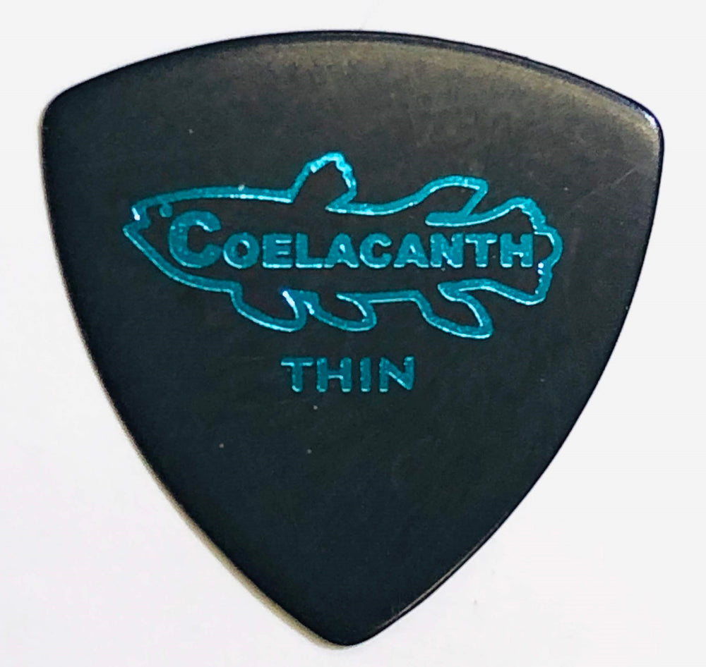 "[Triangle Thin 0.6] Ebonite Guitar Pick ""COELACANTH"""