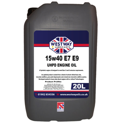 15W40 Synthetic Engine Oil UHPD Low SAPS for Diesel & Petrol Engines E7 E9