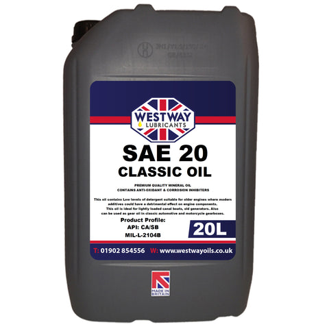 SAE 20 Mineral Classic Motor Oil