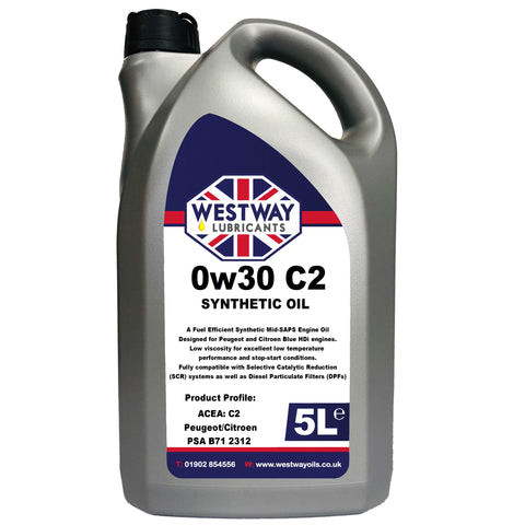 0W30 C2 Fully Synthetic Engine Oil 0w/30 for PSA B71 2312 Blue HDi