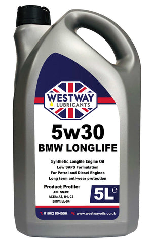 5w30 Fully Synthetic BMW LL-04 C3 Low SAPS Engine Oil